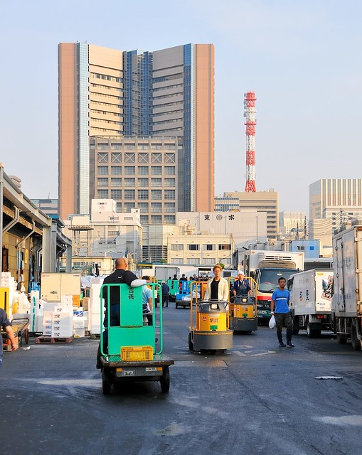 Tsukiji with tower background