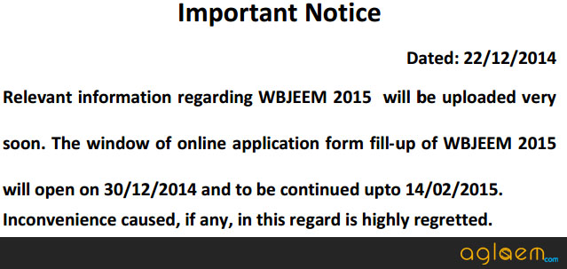 Application Form of WBJEE 2015