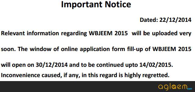 WBJEE 2015 Application Form   Fees and Procedure   wbjeeb  Image