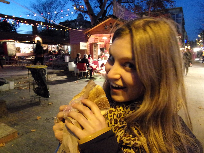 Rebecca and a chimney cake