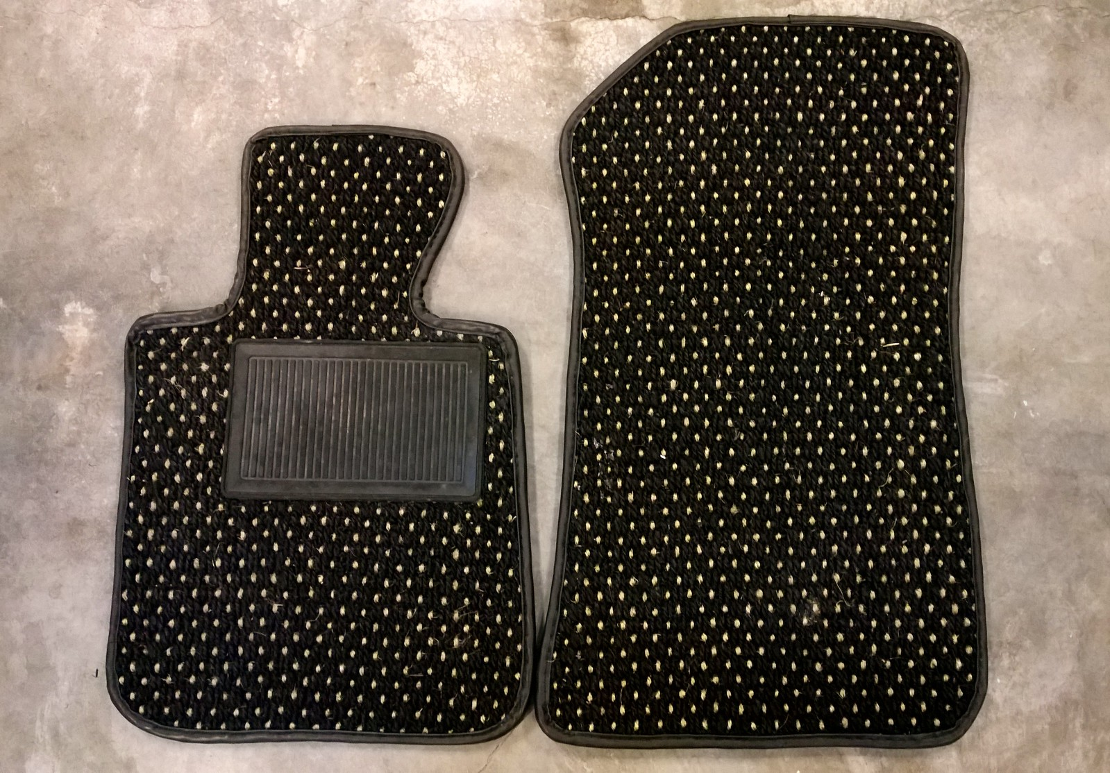 mats mat black porsche four products new two piece herringbone coco noloc or rhd
