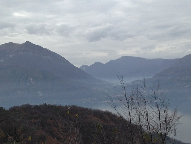 Lake Como from the trail to Esino Lario, Italy