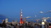 Tokyo Tower Tower at Dusk - Moon 1