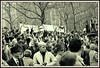 Shalom, anti-Vietnam War protest, Central Park, circa 1969-1970