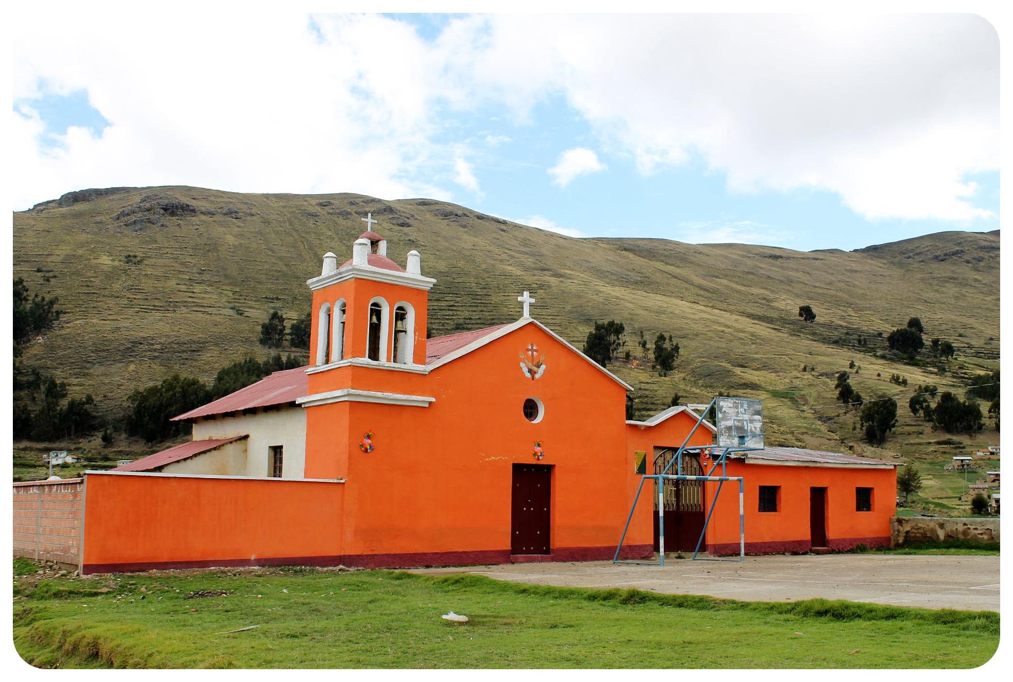 lake titicaca church bolivia