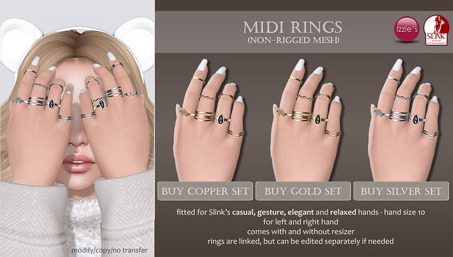 Midi Rings (for My Slink Obsession)