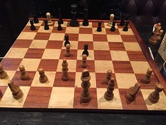 Playing chess at Amnesia