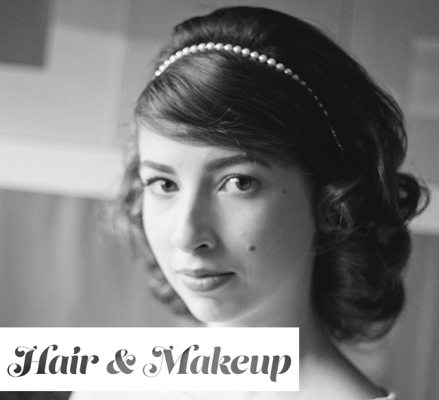 How We Wear Vintage for the Holidays // Hair & Makeup