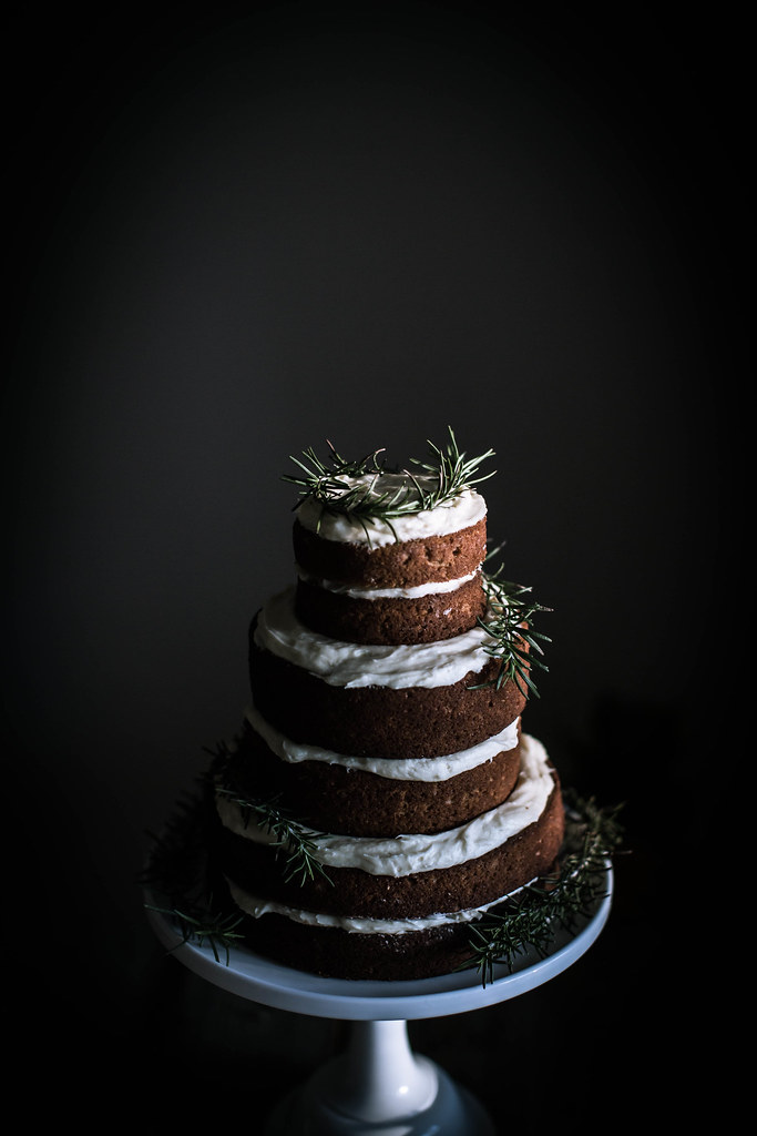 gingerbread sorghum cake + cream cheese mascarpone frosting