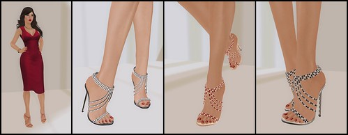Jeweled Stilletos by Sax Shepherd Designs
