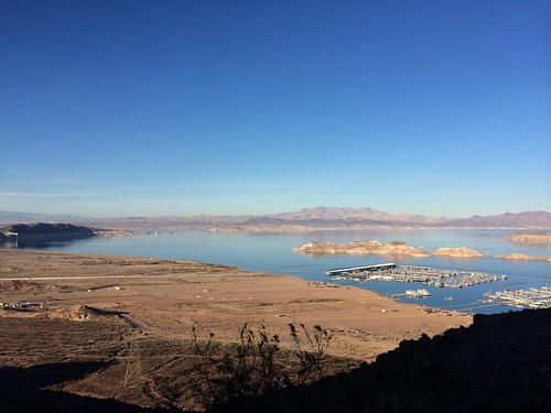 View of Lake Mead from the Historic Railroad Tunnel Trail. Boulder City, NV