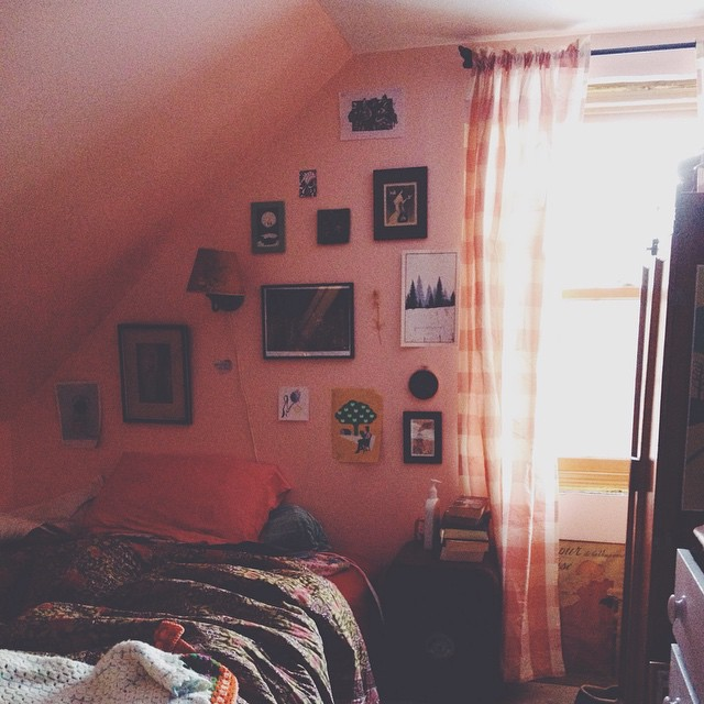 The morning sun in her room  caught my eye yesterday.