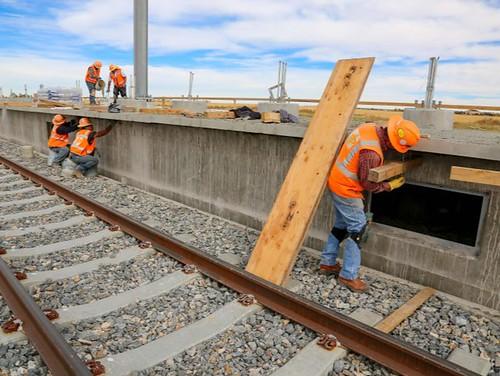 Photo of station platform construction