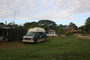 Camped for the night at Victor's Inn.  Oragane Walk, Belize.