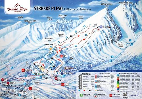 Štrbské Pleso - mapa sjezdovek