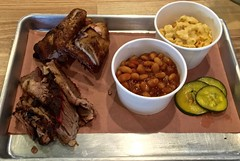 two meat plate at Black Bark BBQ