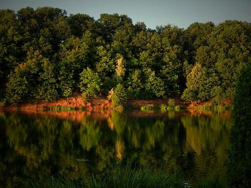 Koberbach Reservoir reflections