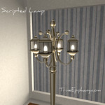 Standing Lamp Scripted 3D Model