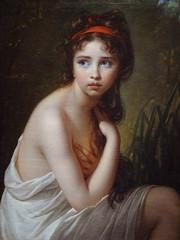 VIG�E-LE BRUN Elisabeth,1792 - Julie Le Brun, en Baigneuse - Detail -a