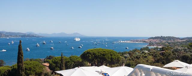 Bay of Saint-Tropez from Villa Belrose / Saint-Tropez, France