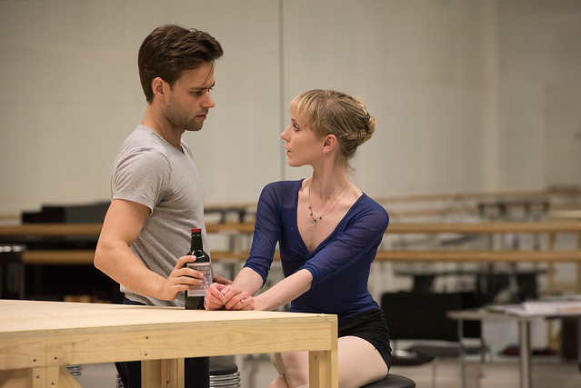 Alexander Campbell and Sarah Lamb in rehearsal for The Age of Anxiety ©ROH. Bill Cooper 2014.