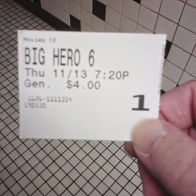 Saw #BigHero6 last night. It was really good. 😊  #Disney #Movies #followme #like4like #TagFire #TFers #liker #likes #l4l #likes4likes #photooftheday #love #likeforlike #likesforlikes @TagfireApp #liketeam #likeback #likebackteam #instagood #likeall