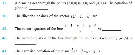 Class 12 Important Questions for Maths - Three Dimensional Geometry