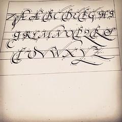 Lecciones de caligrafía en mi escuela