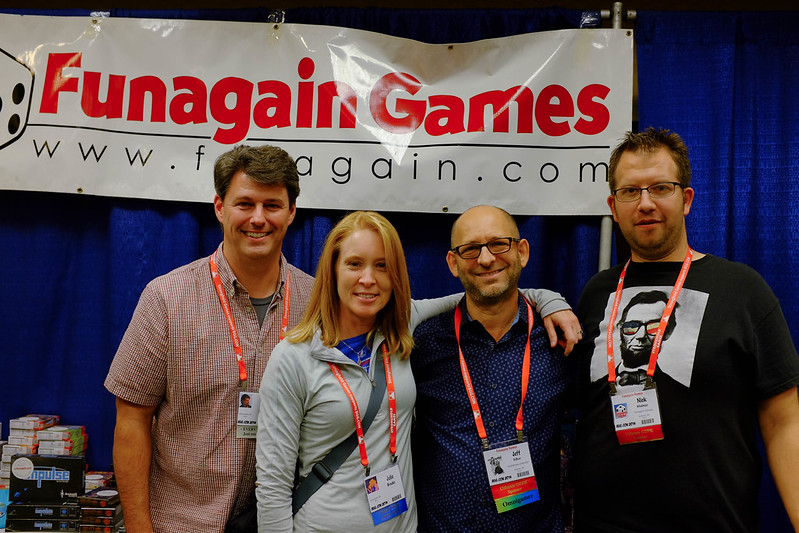 Jim Ginn, Julie Brooks, Jeff Deboer, and Nick Medinger - hangin' with our Funagain friends