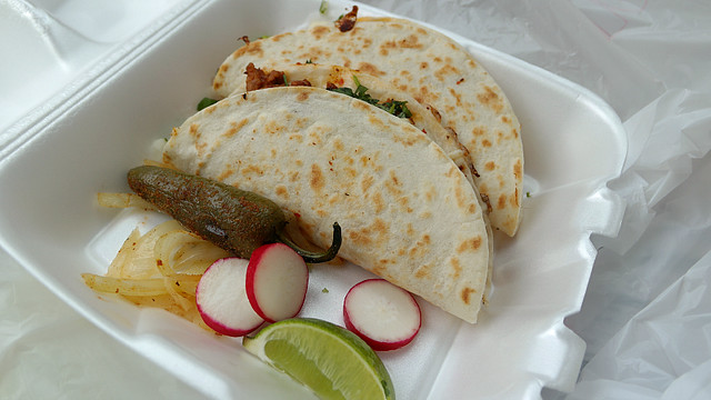 Quesadillas from Tacos Movil in Des Moines, Iowa