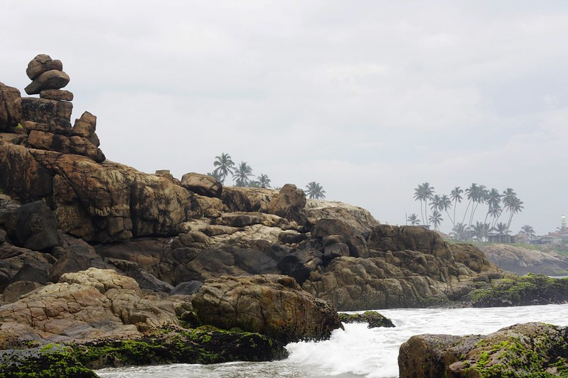 Lighthouse beach in Kovalam, India