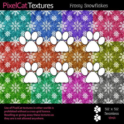 PixelCat Textures - Frosty Snowflakes