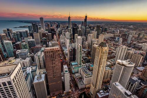 lake chicago tower skyline floors skyscraper observation illinois nikon downtown view michigan sears 360 aerial il deck observatory 94 hancock trump willis d610