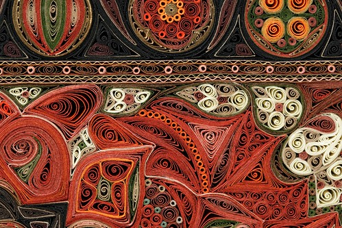 Small Red Rug (tight detail) - Tapis Series - Lisa Nilsson