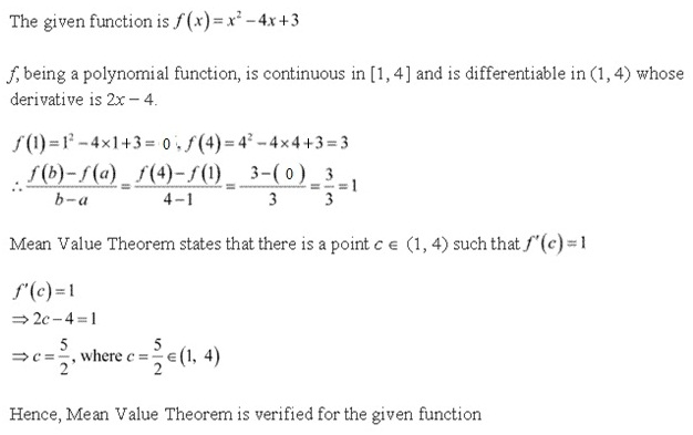 RD Sharma Class 12 Solutions Chapter 15 Mean Value Theorems Ex 15.1 Q5-ii