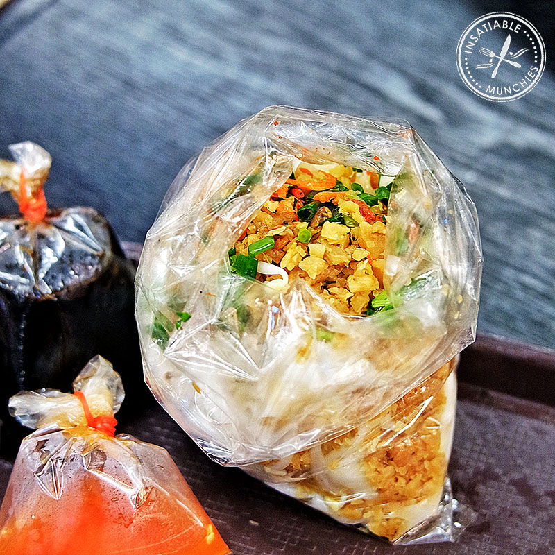 Packet of rice noodle salad