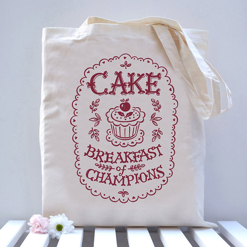 Cake Breakfast of Champions Bag