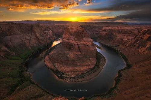 sunset arizona southwest clouds river landscape nikon colorado rocks desert grandcanyon page canyons horseshoebend