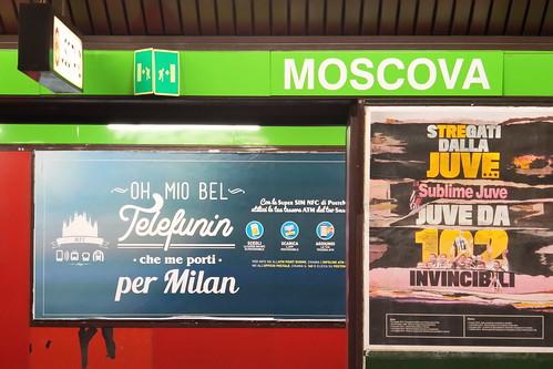 Le pubblicità di oggi fuori dalla #metro
