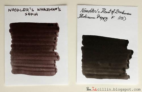 Noodler's Whaleman's Sepia vs HOD