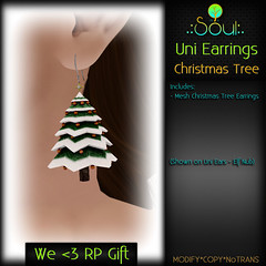2014 UniEarrings ChristmasTrees - WeHeartRP