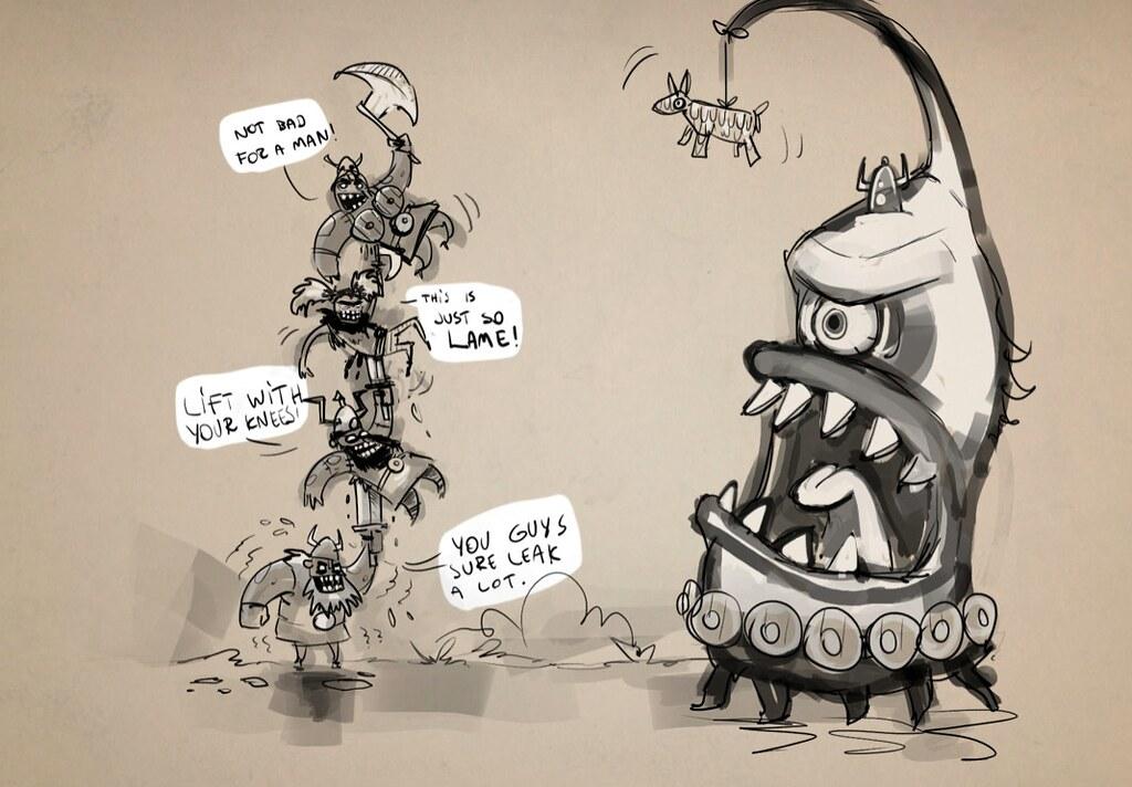Zombie Vikings sketch3