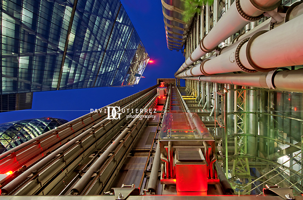 London Converging - Lloyd's building - David Gutierrez Photography, London Photographer