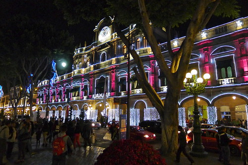 Christmas Lights in downtown Puebla