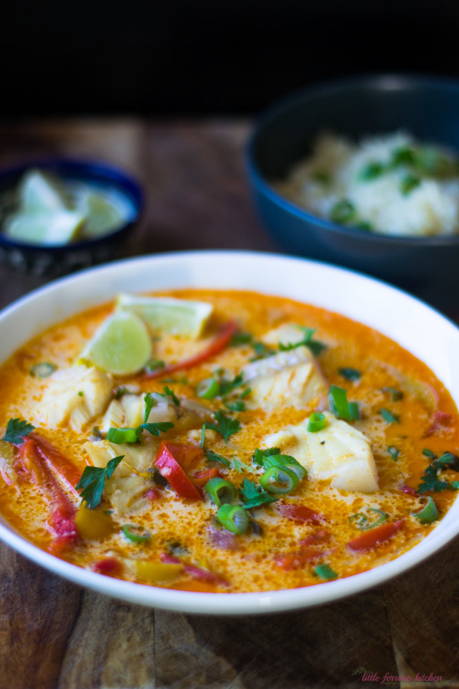 Moqueca brazilian fish stew the little ferraro kitchen for Fish soup recipes