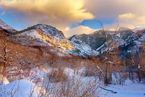 winter snow landscape utah wasatch unitedstates saltlakecity mountolympus neffscanyon