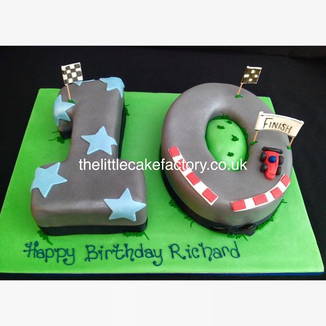 Racing Track Number 10 Cake Car Speed 10th Birthdaycake Celebration Vanilla Personalised Birthday Boy Formula1 Romford Essex