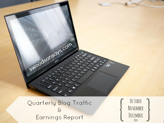 Quarterly Blog Traffic and Earnings Report