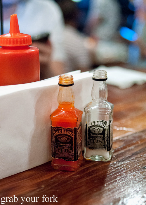 Jack Daniel's hot sauce at Mary's, Newtown