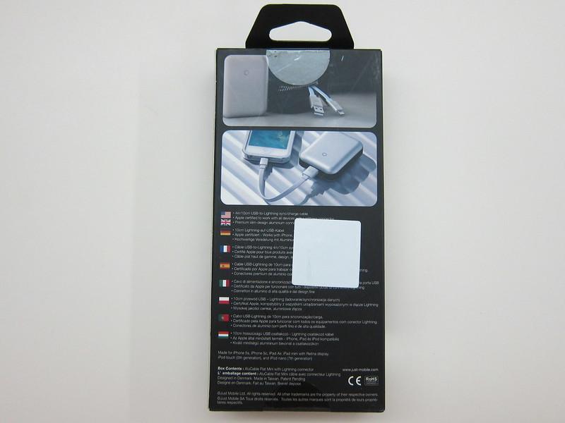 Just Mobile AluCable Flat Mini - Box Back